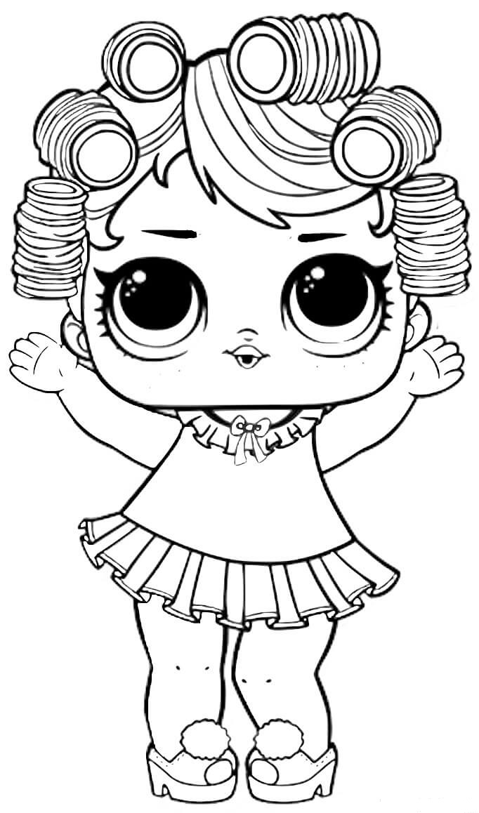 Baby Doll Lol Surprise Doll Coloring Pages
