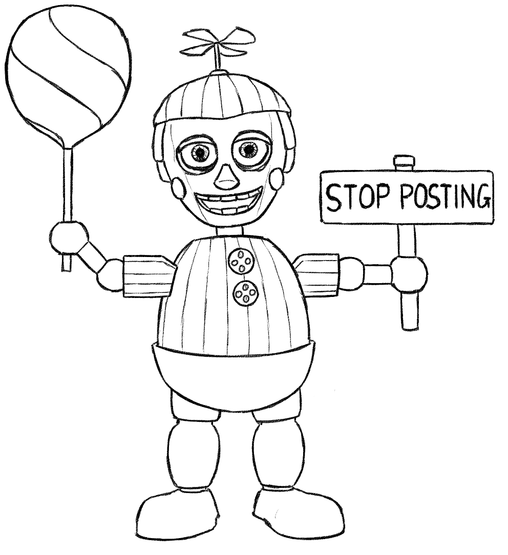 Phantom Balloon Boy Five Nights At Freddys Coloring Pages