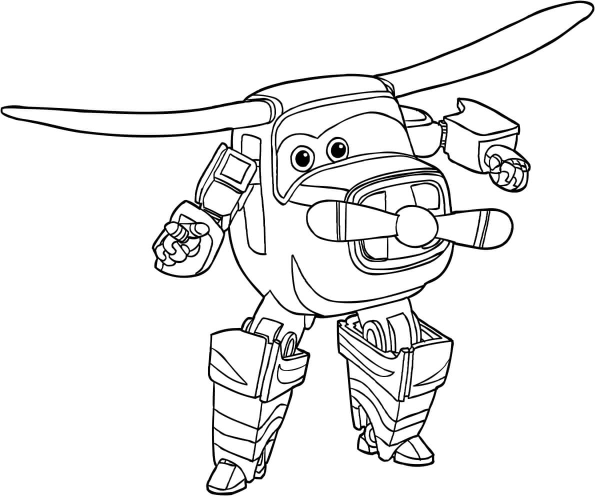 Bello from Super Wings Coloring Pages