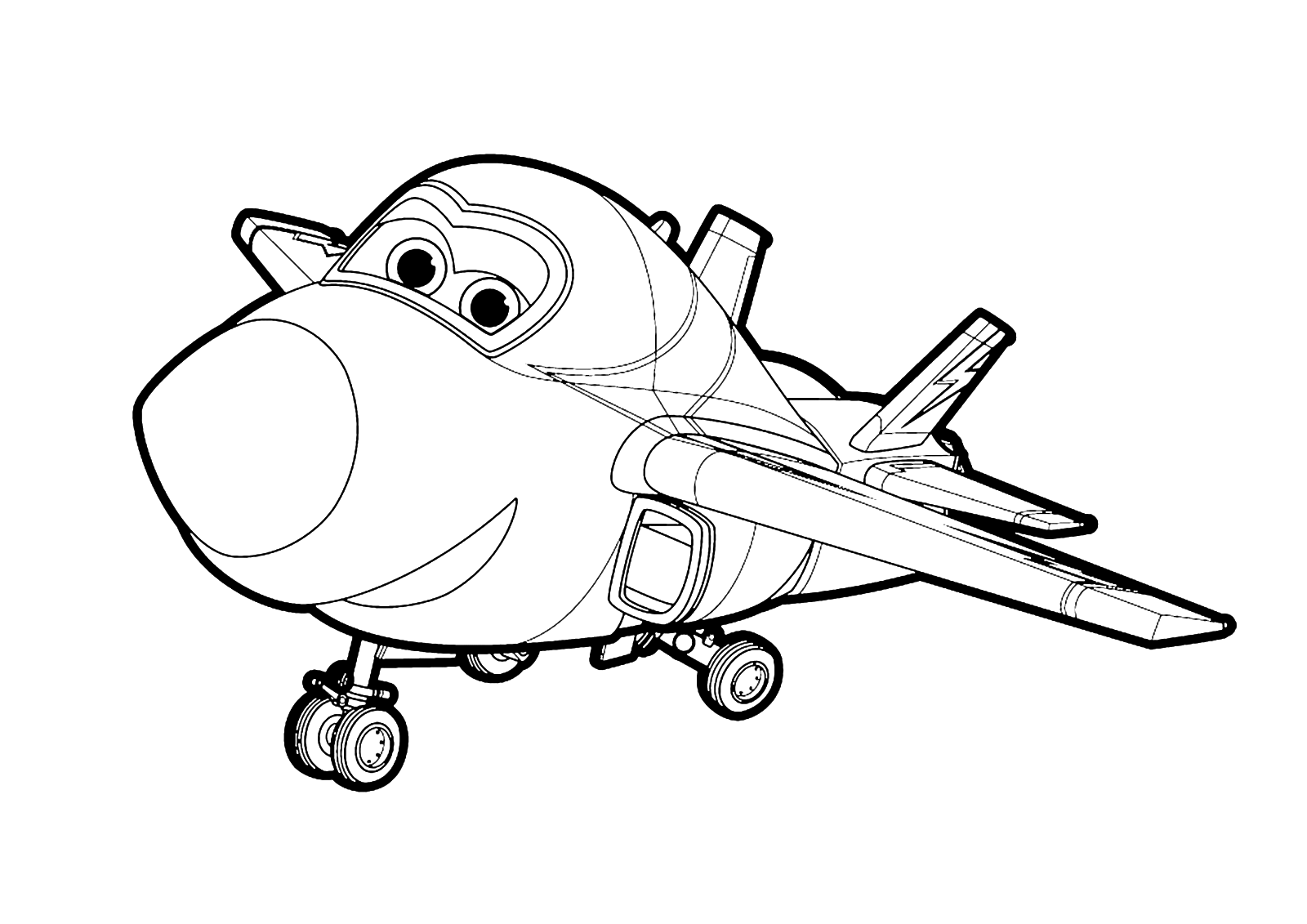 Big Wing from Super Wings Coloring Page