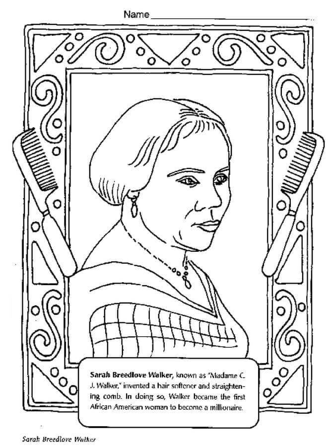 Black History Printable Coloring Pages
