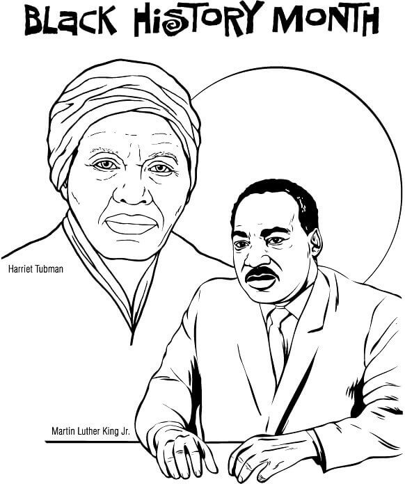 Black History Month Coloring Pages Free Printable