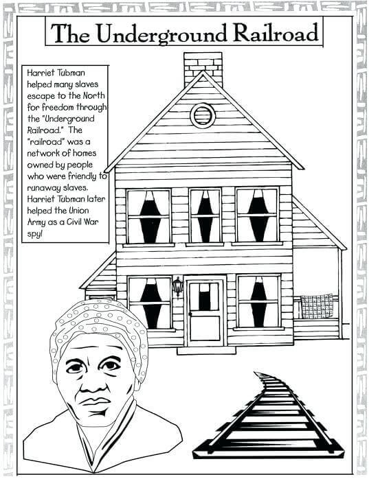 20 free printable black history month coloring pages for Underground railroad coloring pages