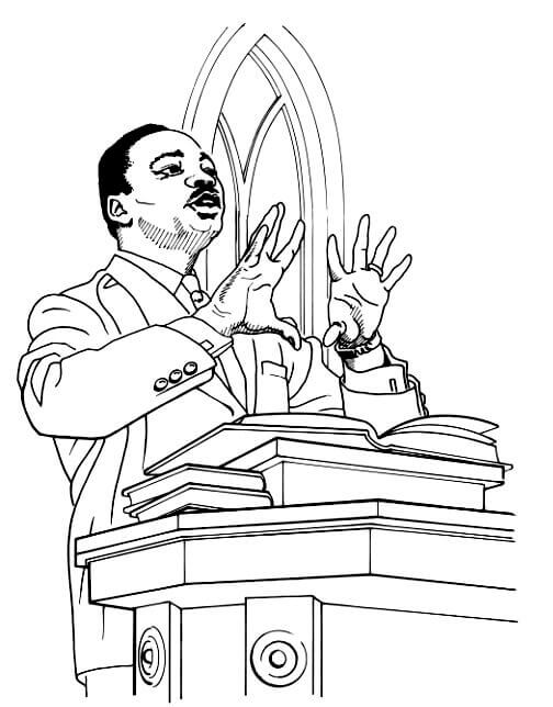 Black History Month Coloring Sheets Martin Luther King Junior