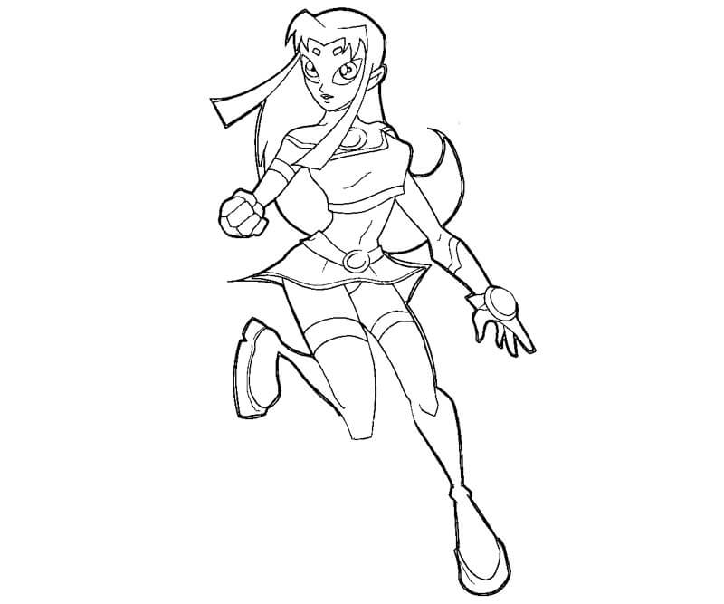 Blackfire From Teen Titans Coloring Pages