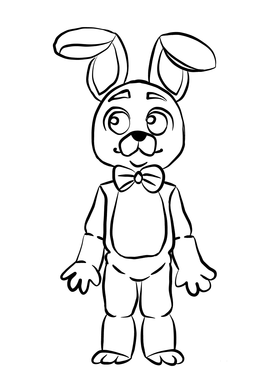 Bonnie FNAF Coloring Pages