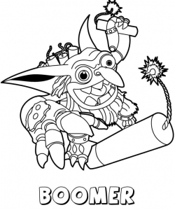 Boomer from Skylanders Coloring Pages
