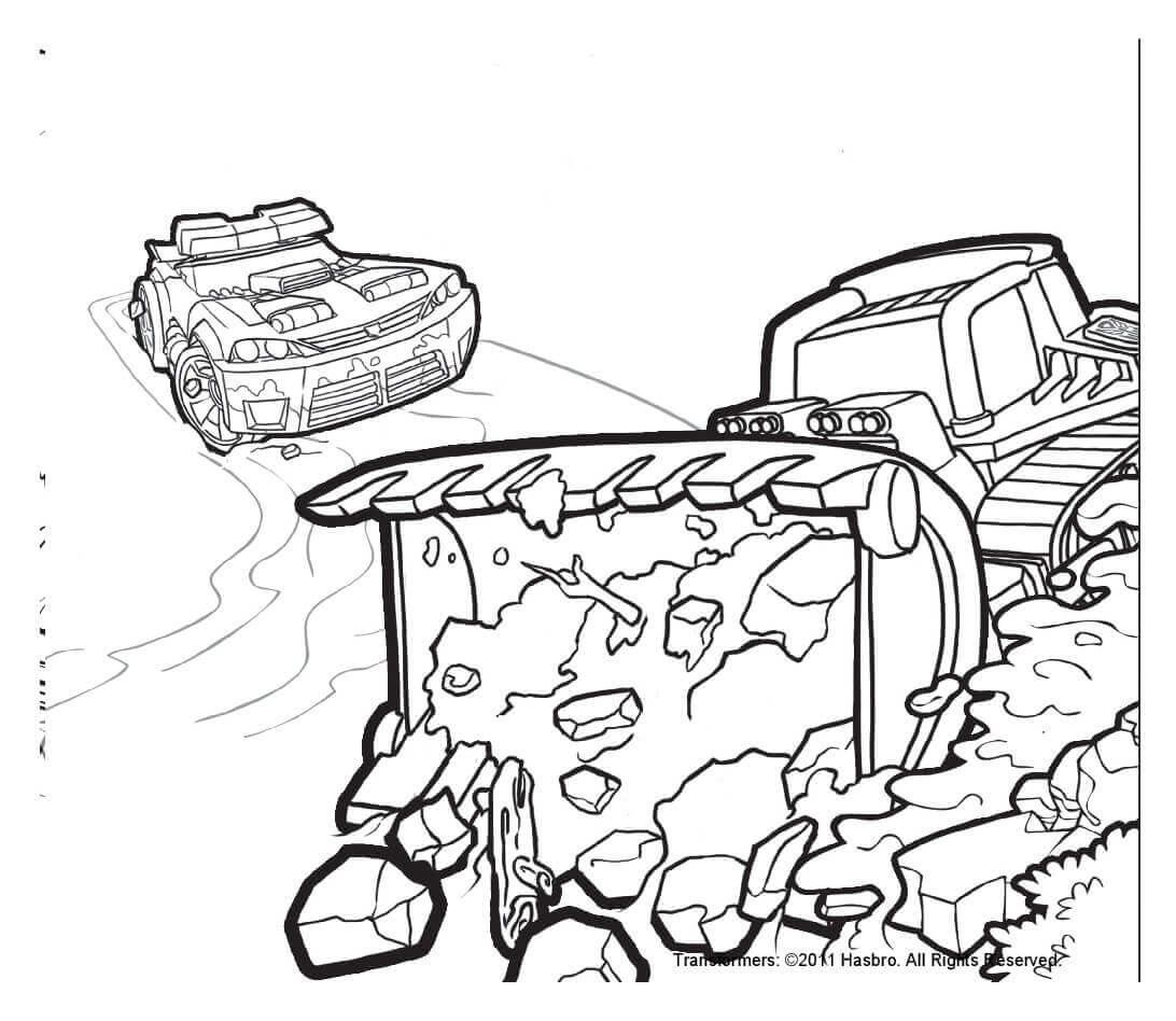 Boulder And Chase Transformers Rescue Bots Coloring Page