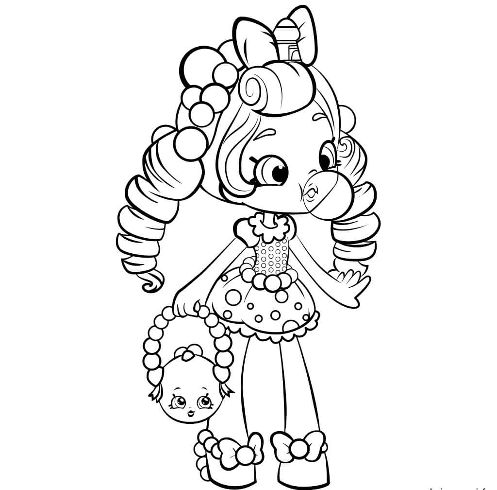 Bubbleisha Shopkins Shoppies Coloring Pages