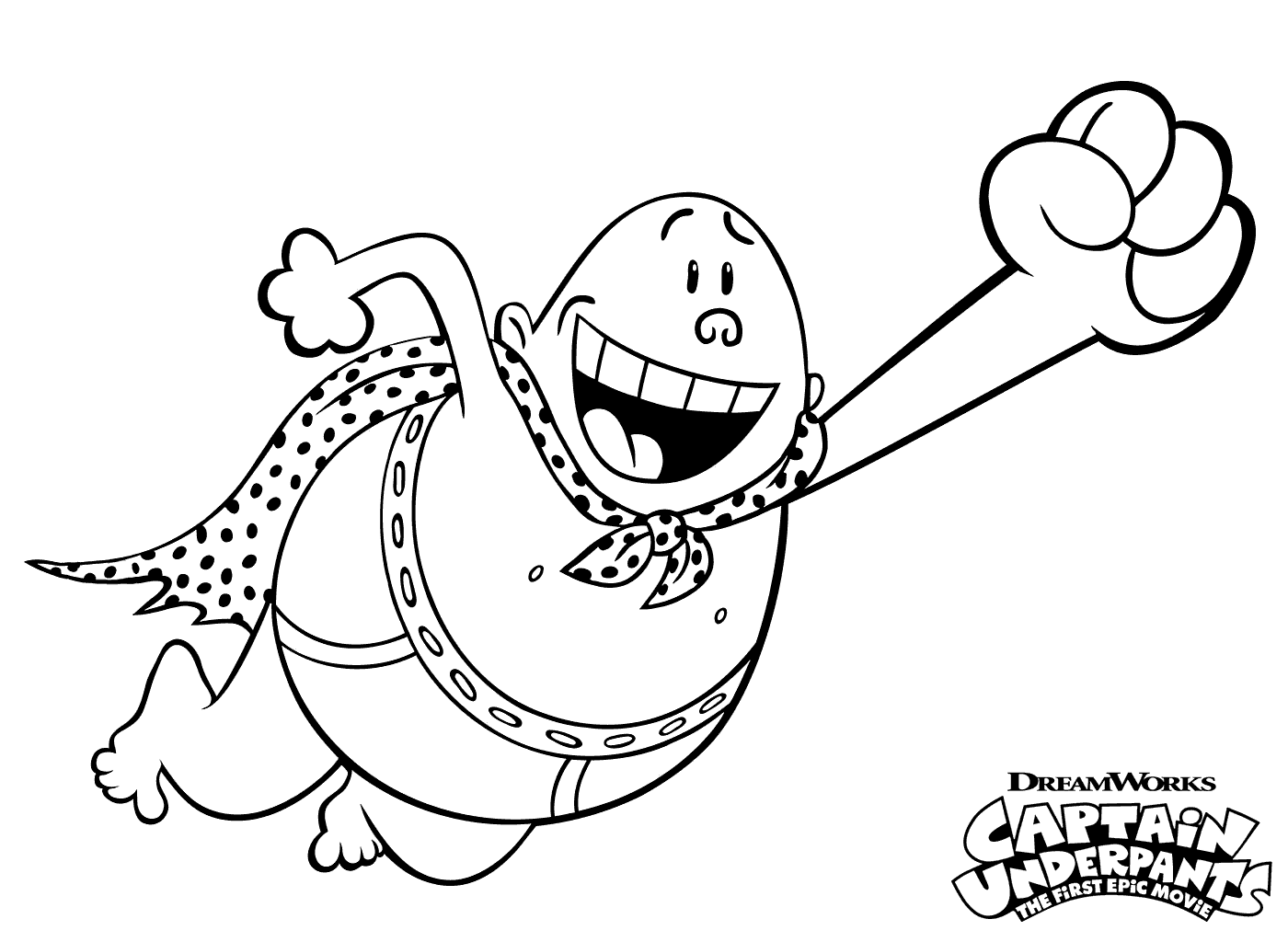 Capt. Underpants Coloring Pages