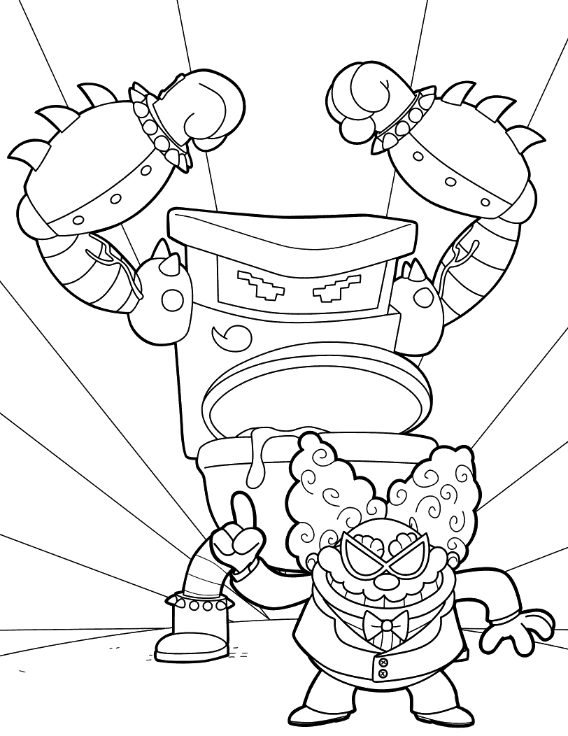 Captain Underpants Coloring Pages Tippy Tinkletrousers