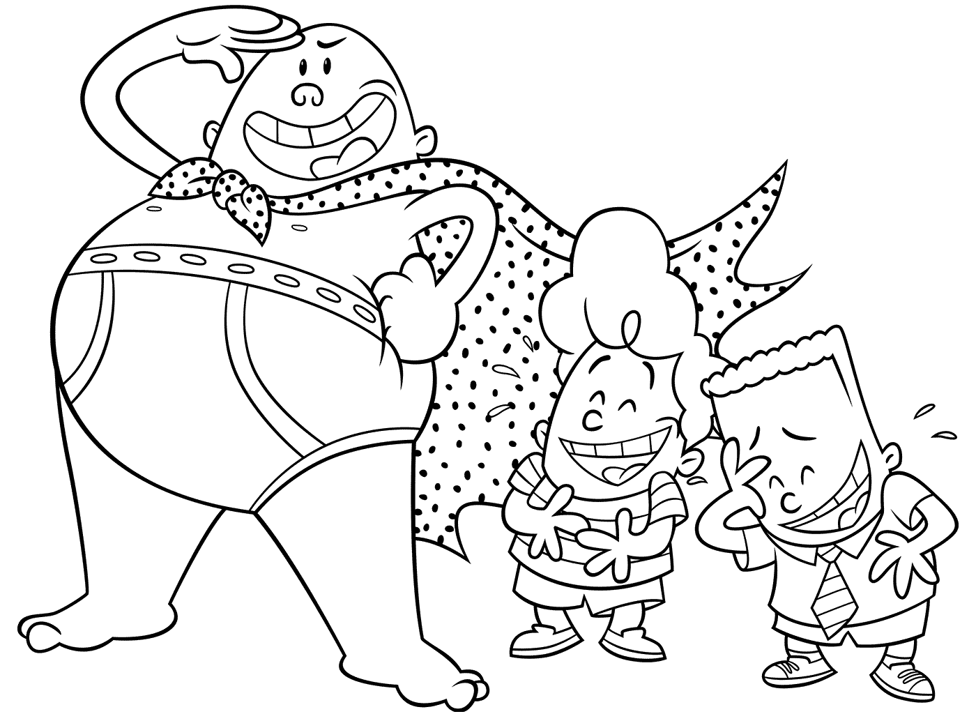 Captain Underpants Colouring Pages