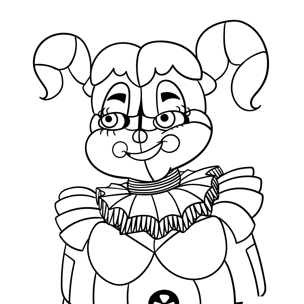 Circus Baby Five Nights At Freddys Coloring Pages