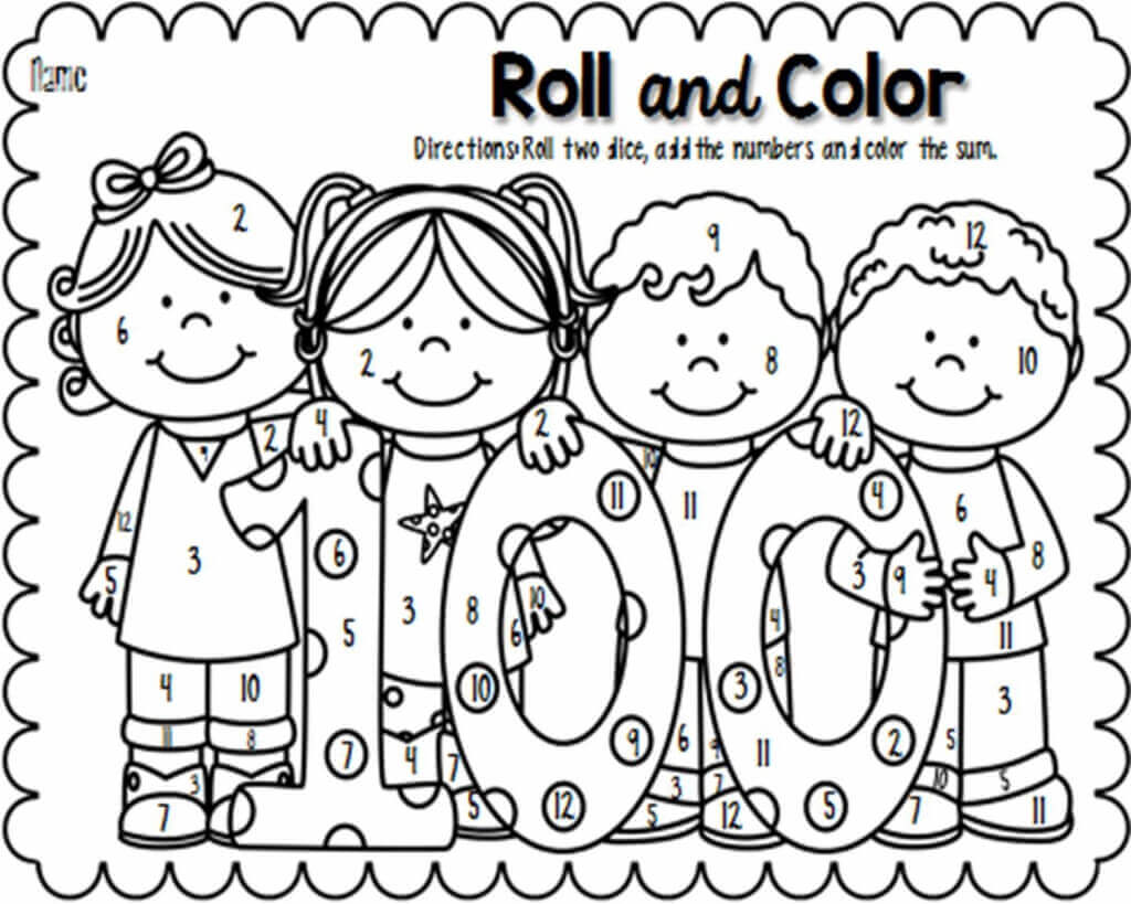 Coloring Sheets Of 100 Days Of School