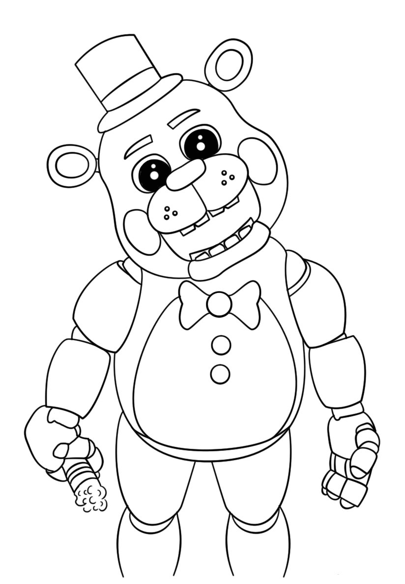 free printable five nights at freddy u0026 39 s  fnaf  coloring pages