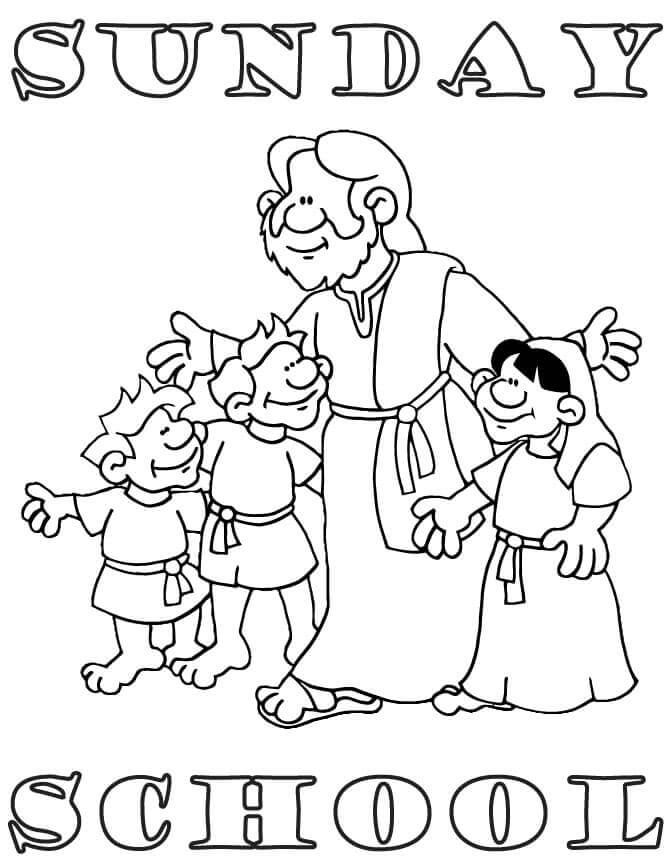 Cute Sunday School Coloring Pages Printable