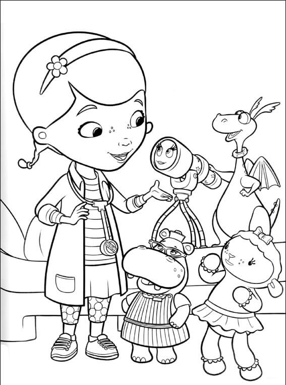 Disney Doc McStuffins coloring pages