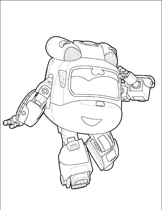 Dizzy from Super Wings Coloring Pages