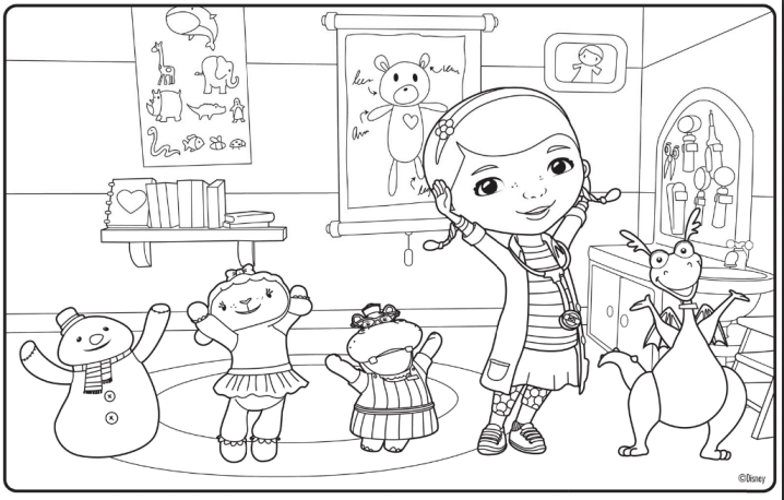 Doc McStuffins Coloring Pages Free Printable