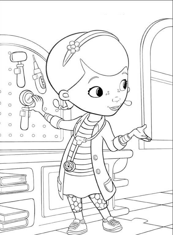 Doc McStuffins coloring page