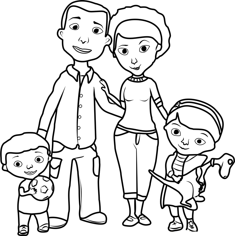 family printable coloring pages - photo#9