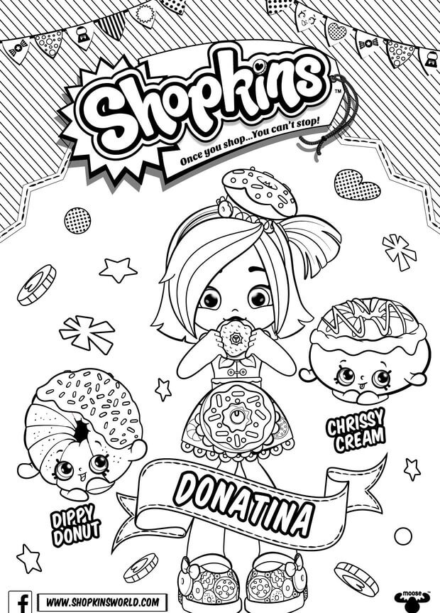 Donatina Shopkins Shoppies coloring pages