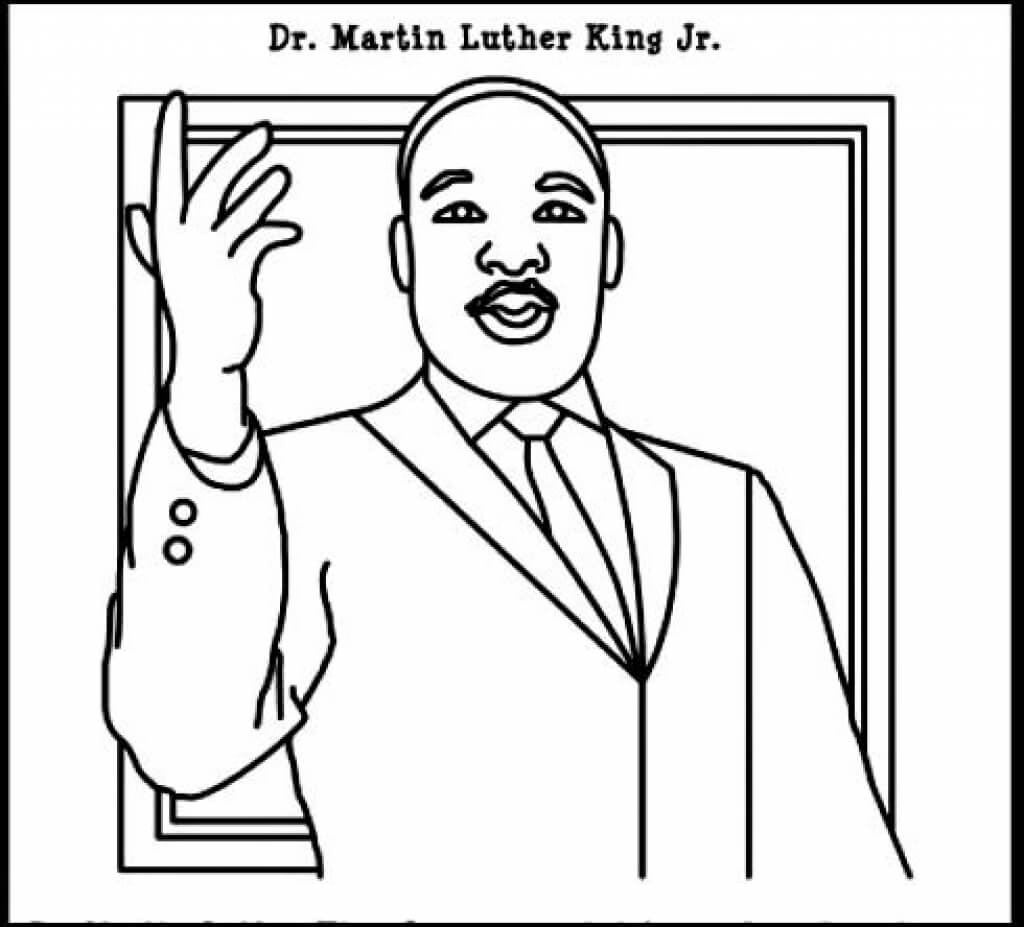 Free printable martin luther king jr day coloring pages for Martin luther king jr coloring pages