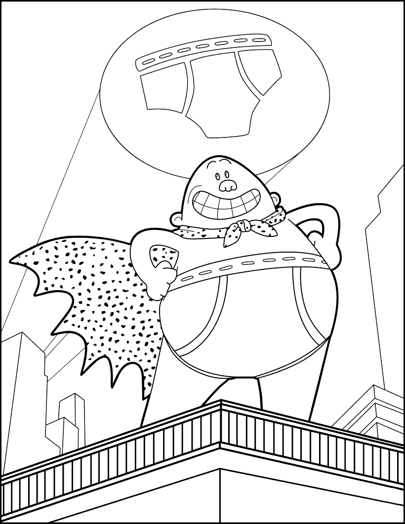 Dreamworks Captain Underpants Coloring Pages