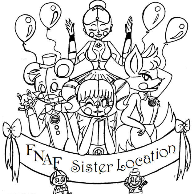 FNAF Sister Location Coloring Page