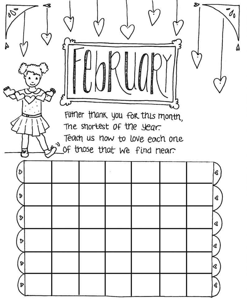 February Activity Sheets