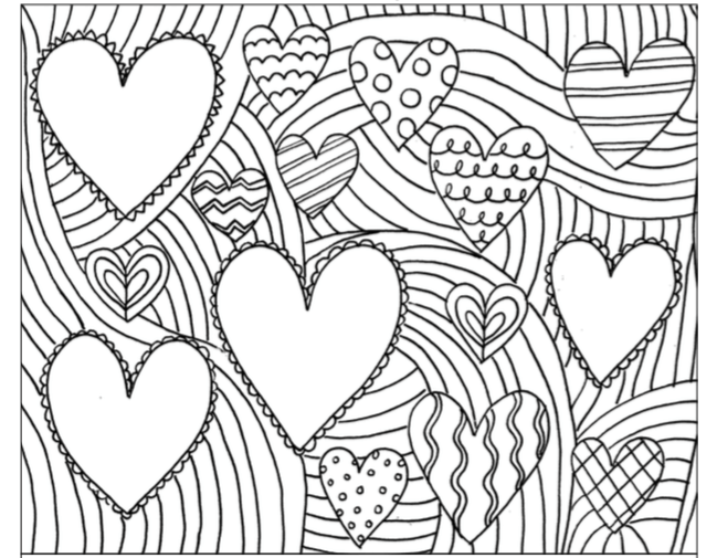 february hearts coloring pages - February Coloring Pages