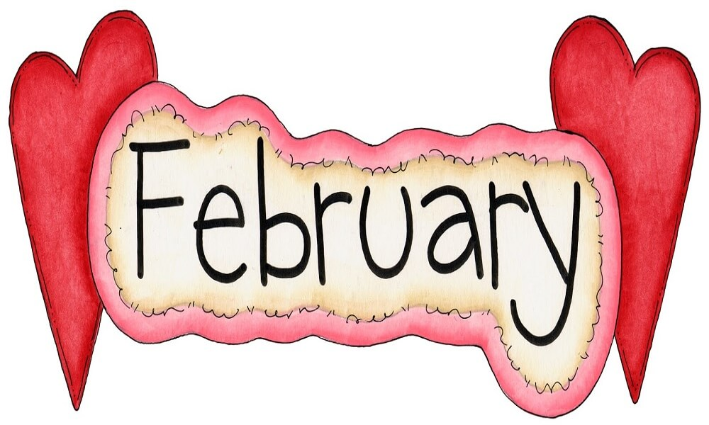 February coloring images