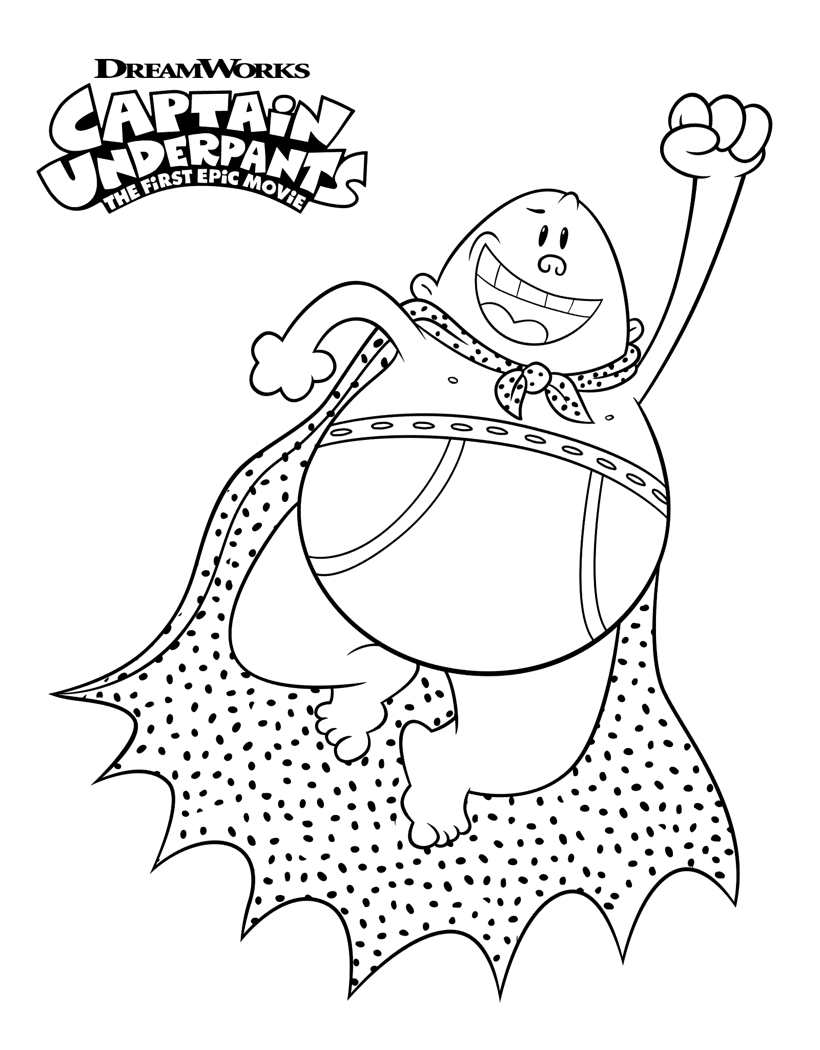 Flying Captain Underpants Coloring Pages Printable