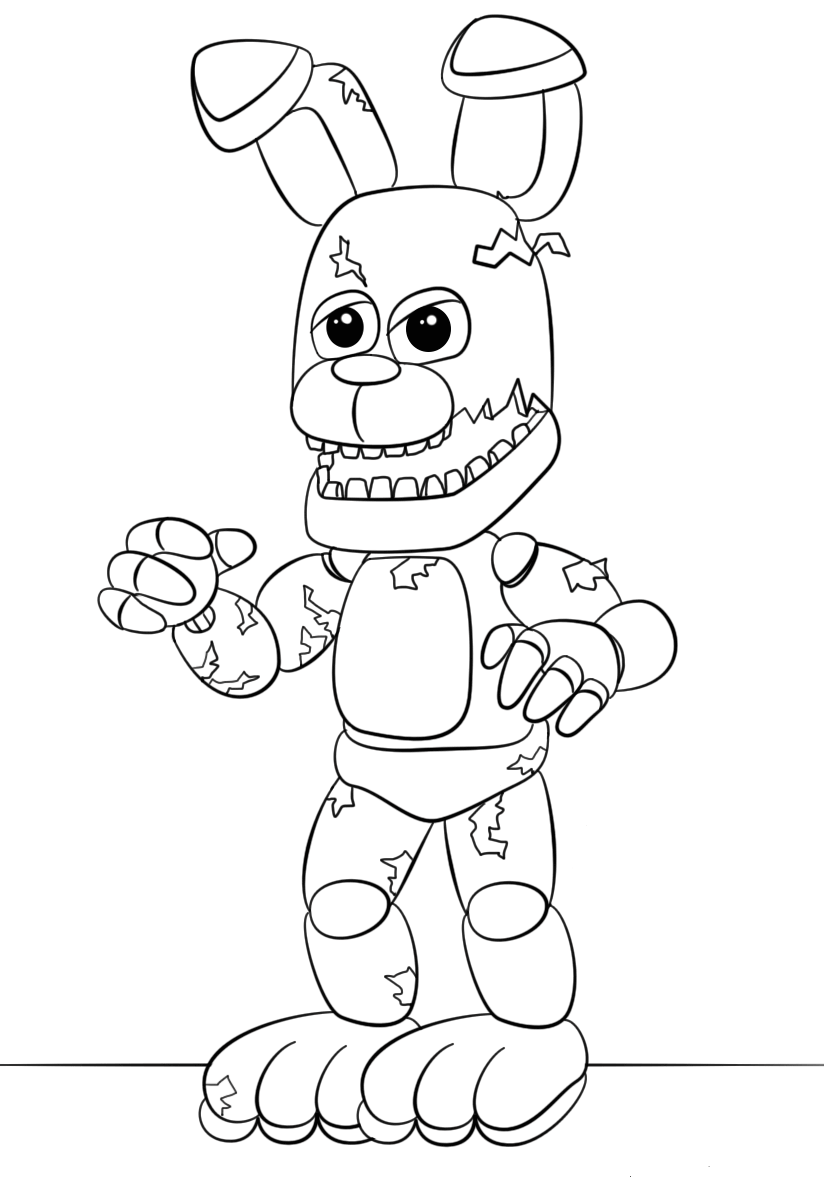 Fnaf Springtrap Coloring pages Printable