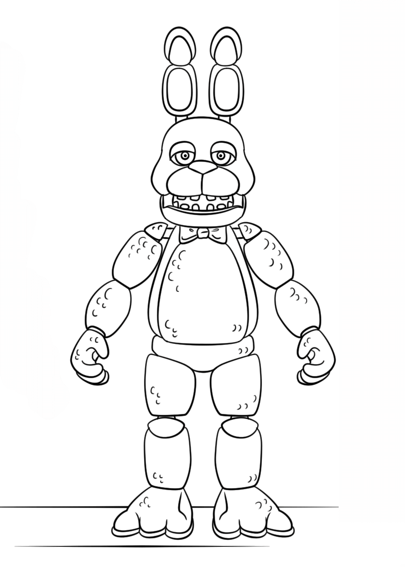 Fnaf Toy Bonnie Generation 5 Coloring pages