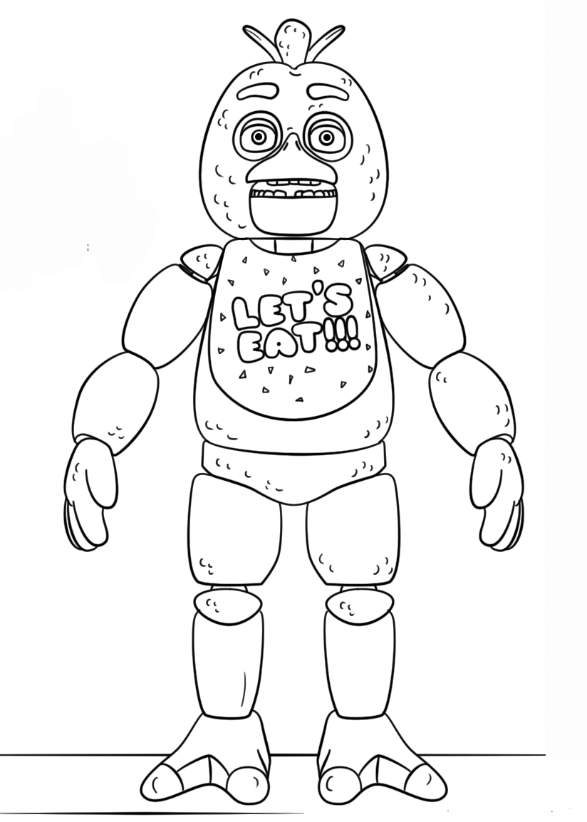 Fnaf Toy Chica Coloring Pages Printable