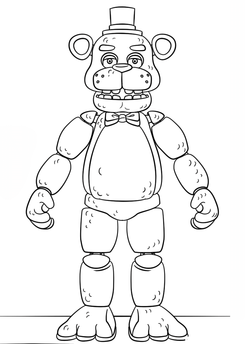 Fnaf Golden Freddy Coloring Page