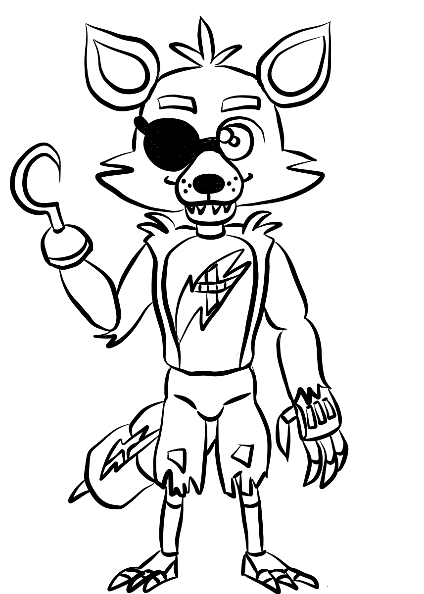 Foxy FNAF Coloring Pages