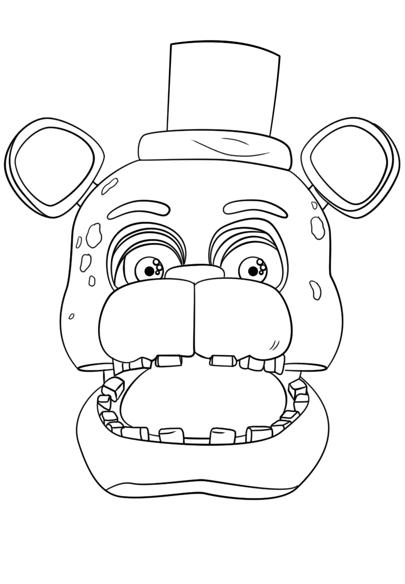 Freddy Portrait FNAF Coloring Page
