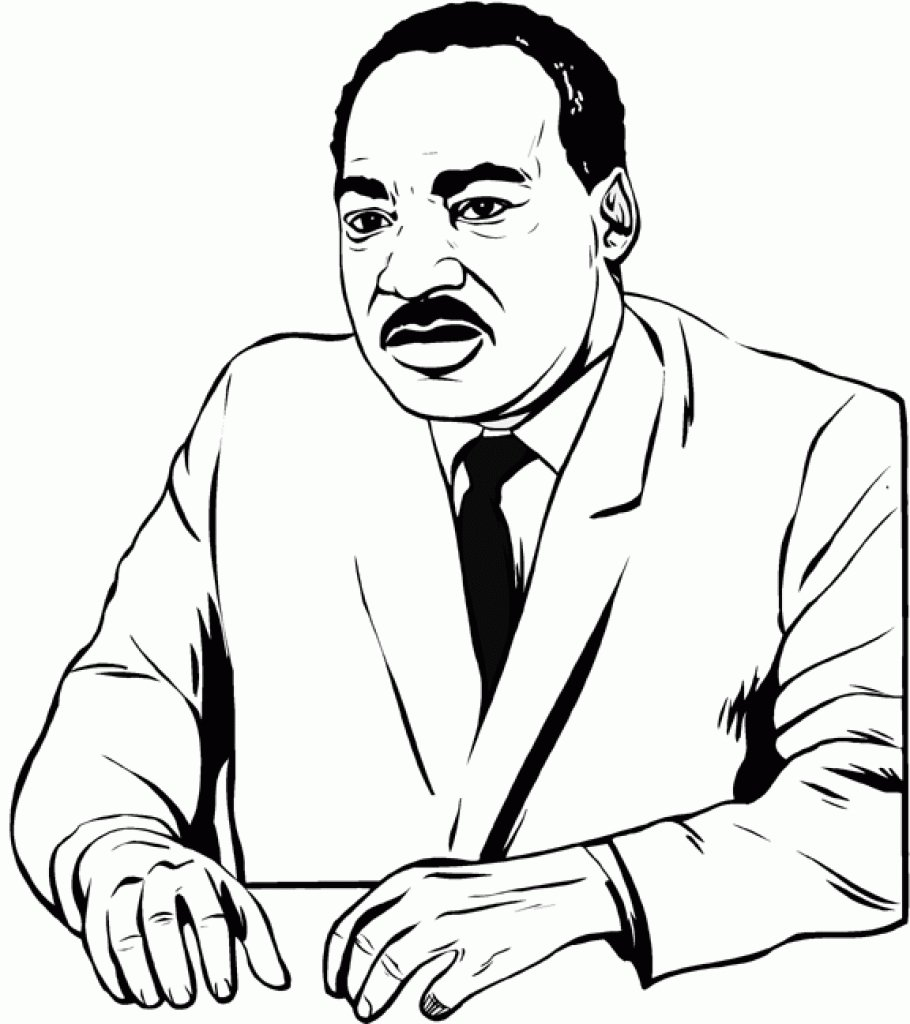 It's just a photo of Accomplished Martin Luther King Coloring Sheets Printable