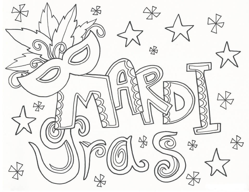 coloring pages mardi gras - photo#3