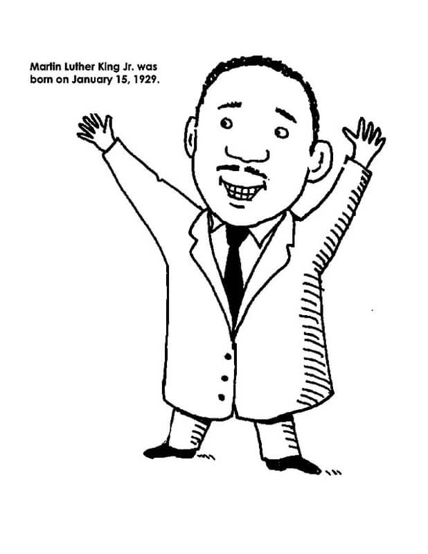Free Martin Luther King Jr Coloring Pages