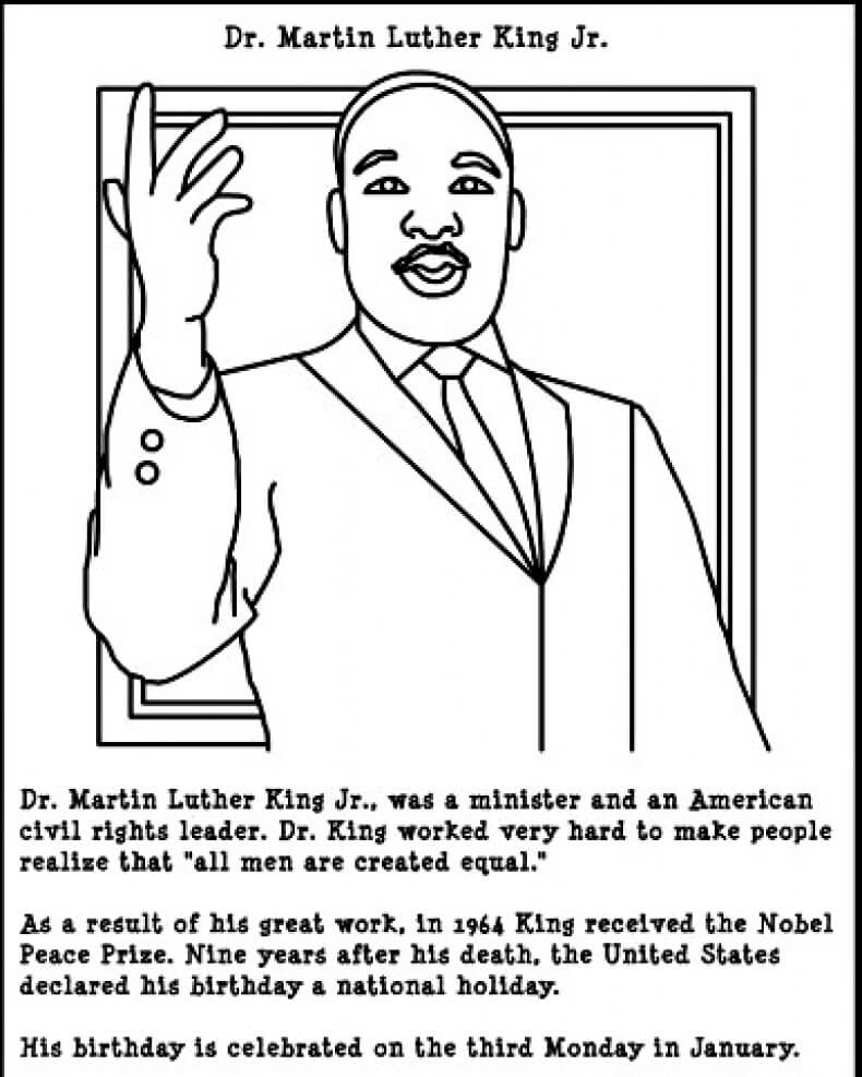 This is a graphic of Rare Martin Luther King Coloring Sheets Printable