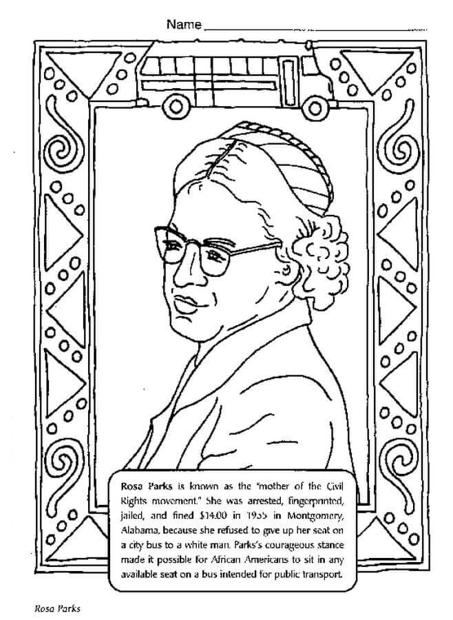 Free printable black history month coloring pages rosa parks