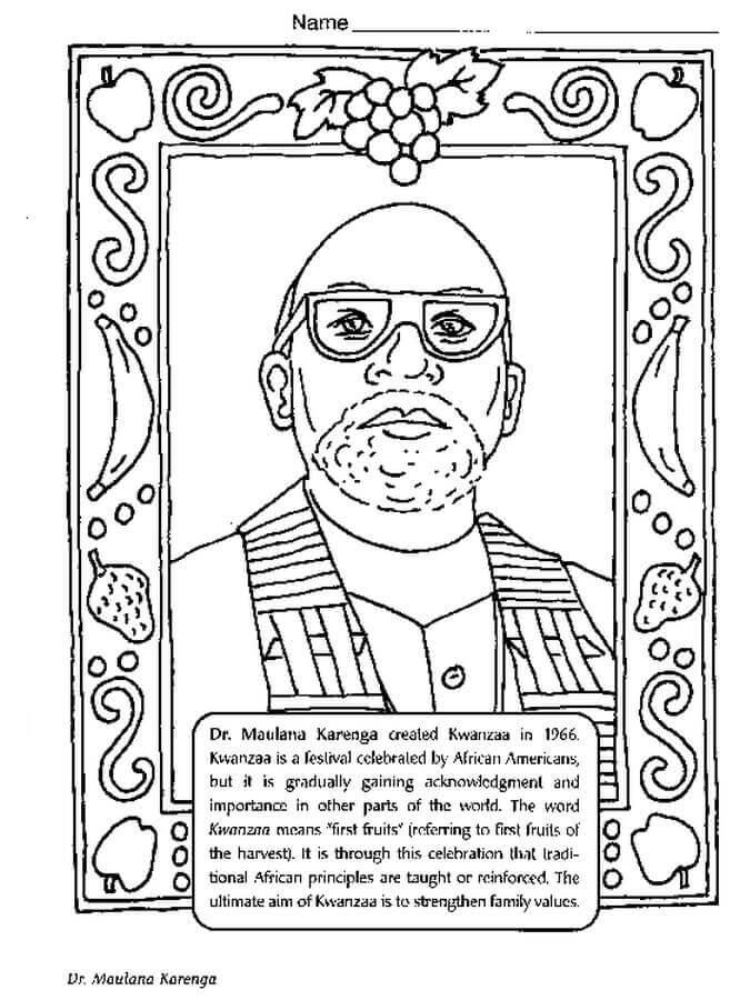 Free Printable Black Month Coloring Pages Ron Karenga