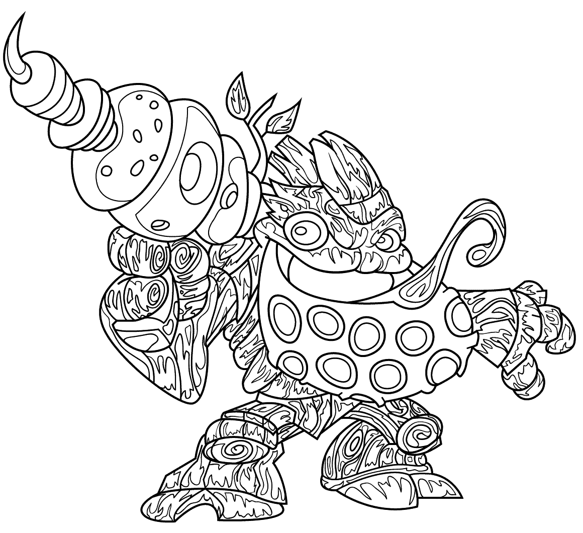 Free Printable Bubble Blast Skylanders Coloring Pages