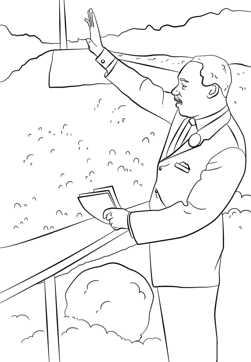It's just an image of Playful Martin Luther King Coloring Sheets Printable
