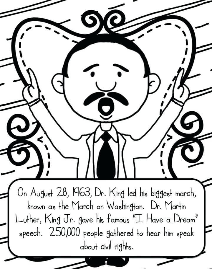free printable martin luther king jr day coloring pages - Coloring Page A