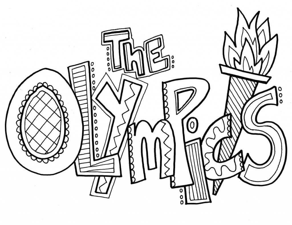 Free Printable Olympics Coloring Pages