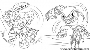 Free Printable Skylanders Coloring Pages